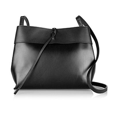 Tie Leather Shoulder Bag