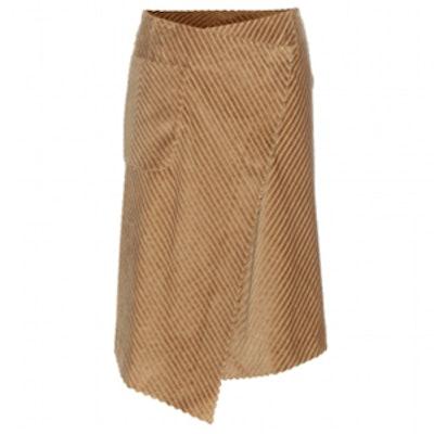 Cotton Corduroy Wrap Skirt