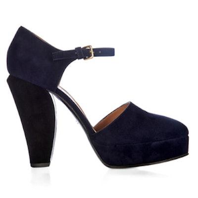 Bi-Colour Suede Sandals