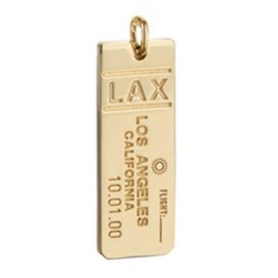 LAX Los Angeles Luggage Tag Charm