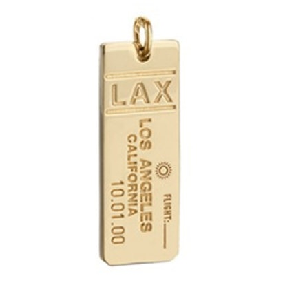 LAX Los Angeles Luggage Tag Charm