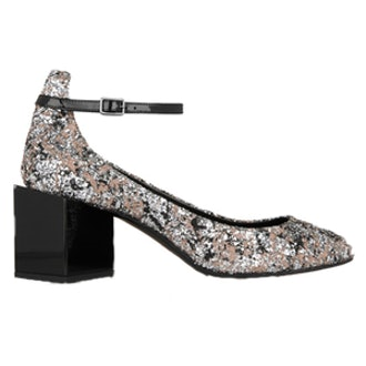 Ace Glittered Leather Pumps