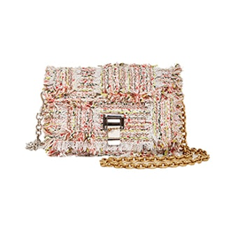 Frayed Tweed Courier Bag