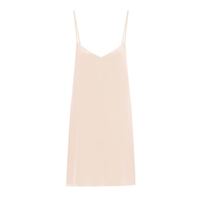 Deep-V Silk Slip Dress