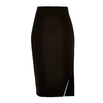 Black Side Zip Pencil Skirt