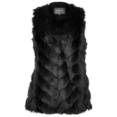 Faux Fur Knitted Back Vest