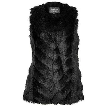 Faux Fur Knitted Back Vest