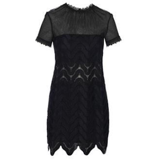 Evie Wave-Lace Mini Dress