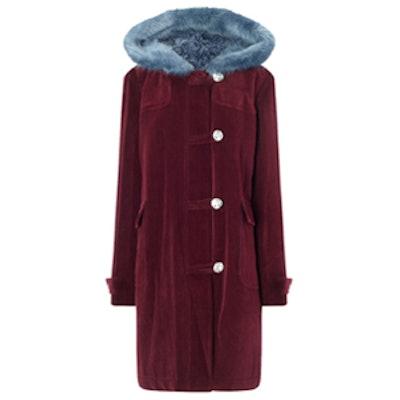 Herby Maroon Duffle Coat