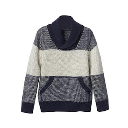 Single Stripe Shawlneck Sweater