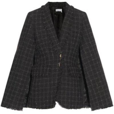 Fringed Tweed Cape