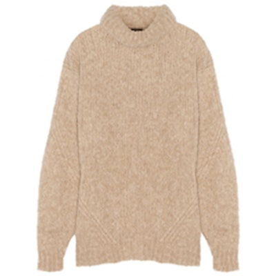 Bubble Knitted Turtleneck Sweater