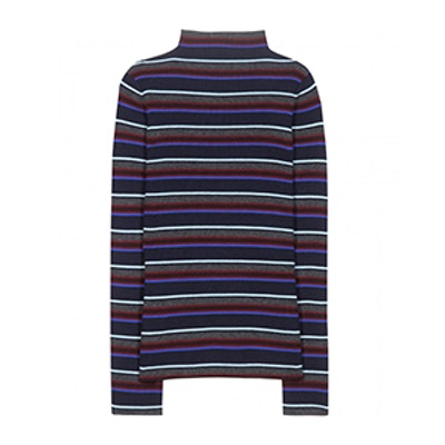 Striped Knitted Wool Sweater
