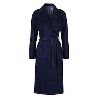 Indigo Denim Trench Coat