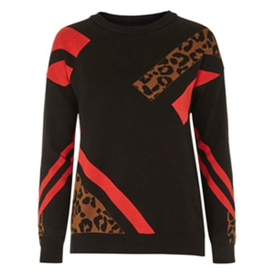Animal Colour-Block Sweater