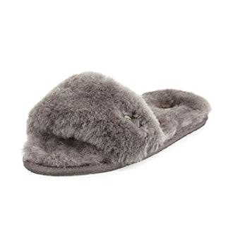Fluff Shearling Fur Slide Slipper
