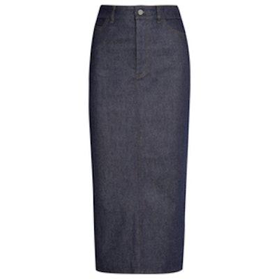 Stretch-Denim Pencil Skirt