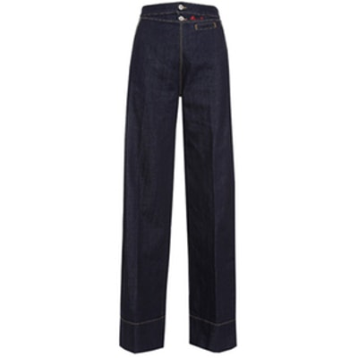 Anglomania Vader Wide-Leg Pleated Jeans