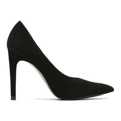 Suede Court Shoe