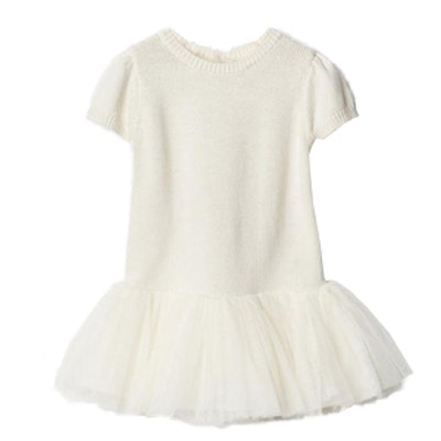 Mix-Fabric Tutu Dress