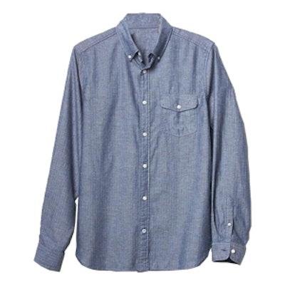 Lived-In Herringbone Shirt