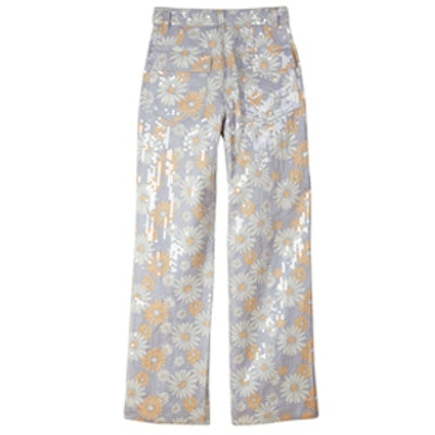 Multicolor Polyester Trousers