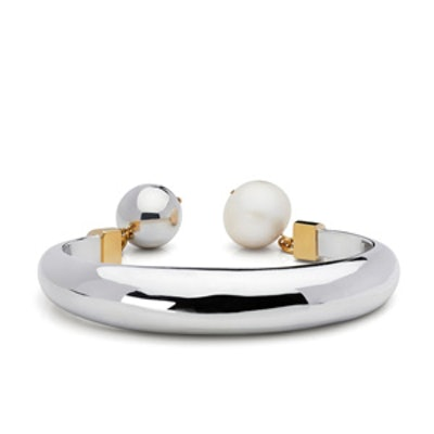 Pearl & Ball Statement Cuff