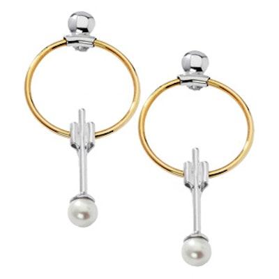 Swinging Pearl Earrings