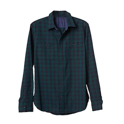Flannel Gingham Worker Shirt