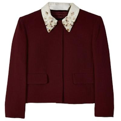 Sequined Collar Jacket