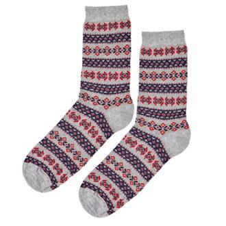 Nordic Fairisle Ankle Socks