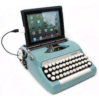 Blue USB Typewriter