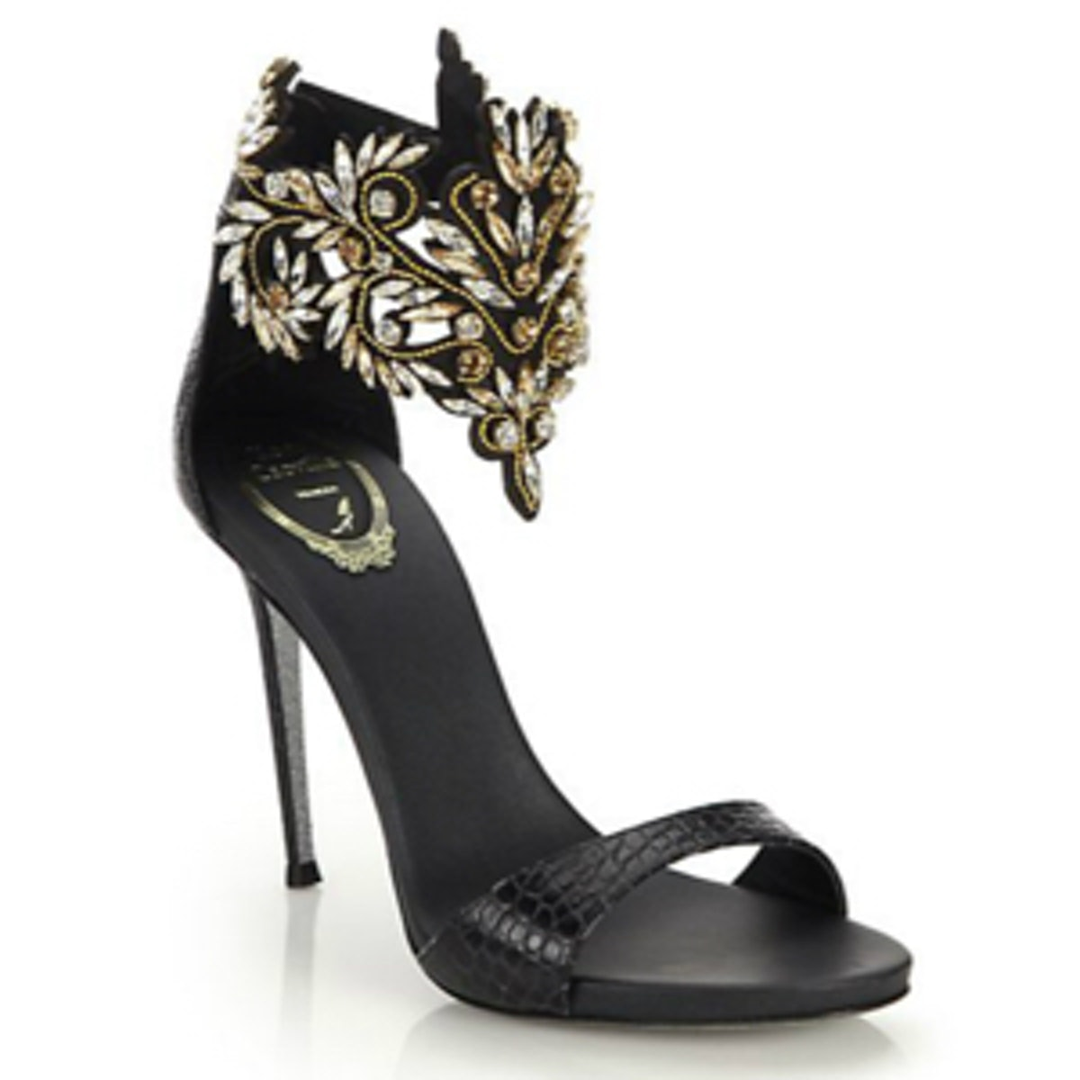 Crystal Snakeskin Sandals