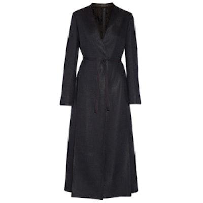 Vantin Cotton-blend Burlap Wrap Coat