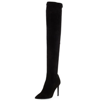 Besot Stretch-Suede Over-the-Knee Boot