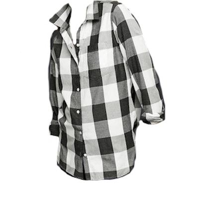 Flannel Plaid Relaxed Boyfriend shirt