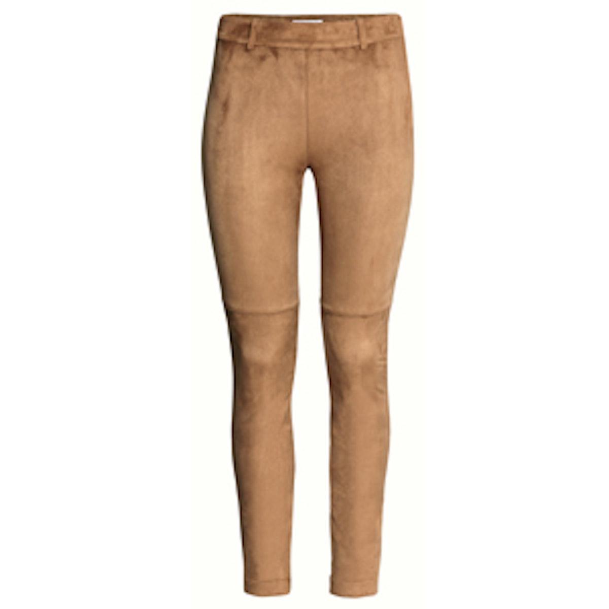 Imitation Suede Pants