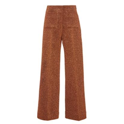 Copper-Lurex Slim Culottes