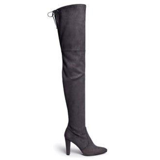 All Legs Stretch Suede Thigh High Boots
