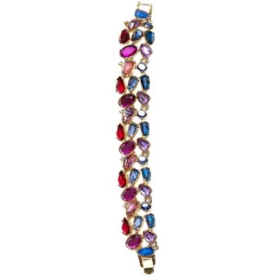 Faceted Stone Cluster Bracelet