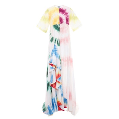 Cotton Poplin Gonzo Gown With Ruffles