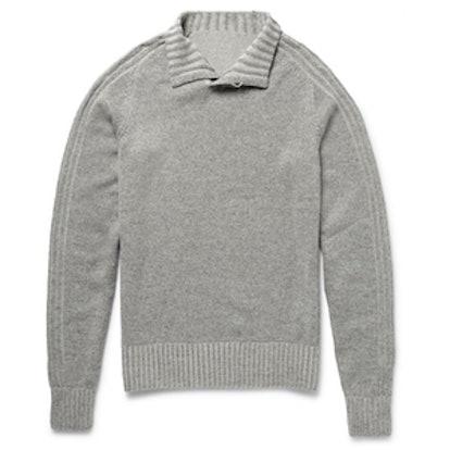 Funnel-Neck Cashmere Sweater
