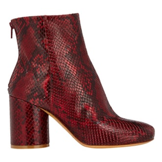 Cylindrical-Heel Ankle Boots
