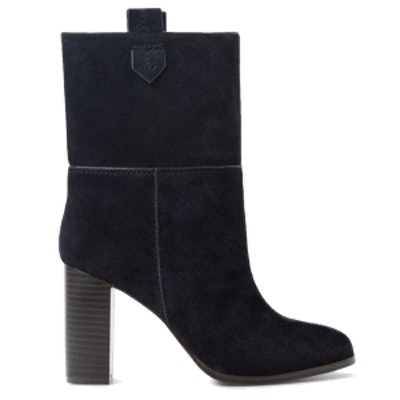 Heel Suede Ankle Boot