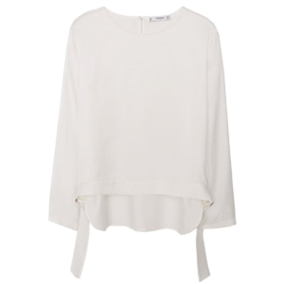 Blucked Flowy Blouse