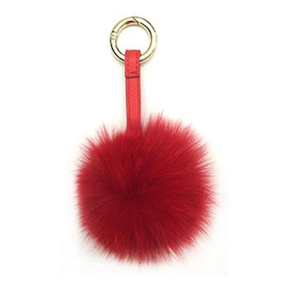 Fox Pom Pom Keychain