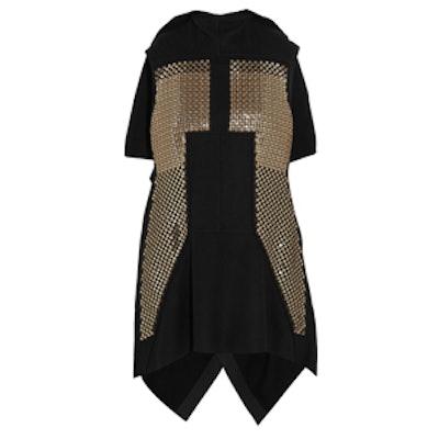 Sphinx Sequin Embellished Wool-Blend Vest