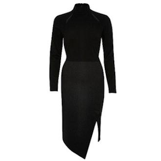 Split Shoulder Bodycon Dress
