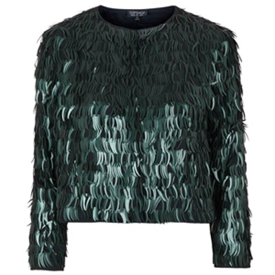 Feather Sequin Jacket