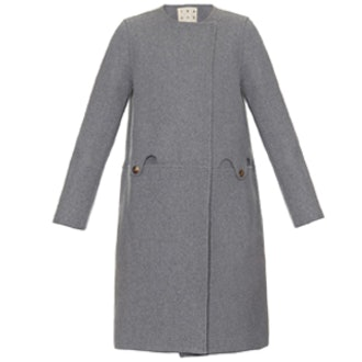 Almond Wool Blend Coat